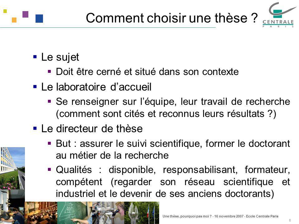 Comment choisir une thèse