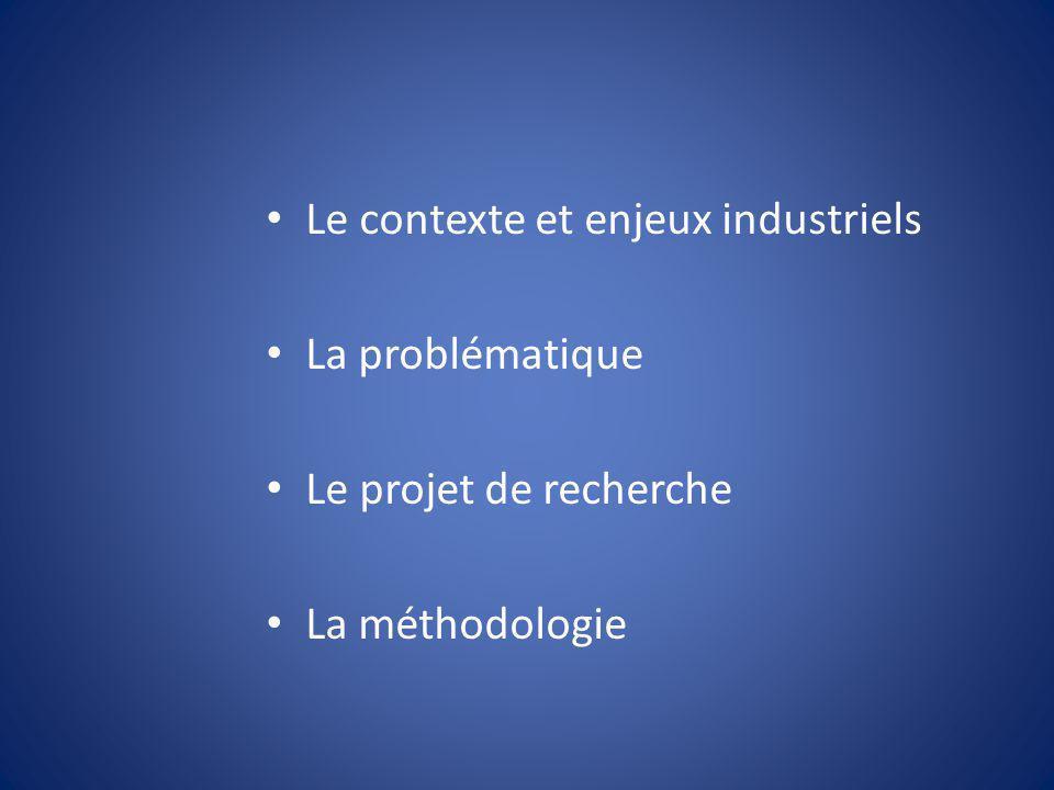 Le contexte et enjeux industriels