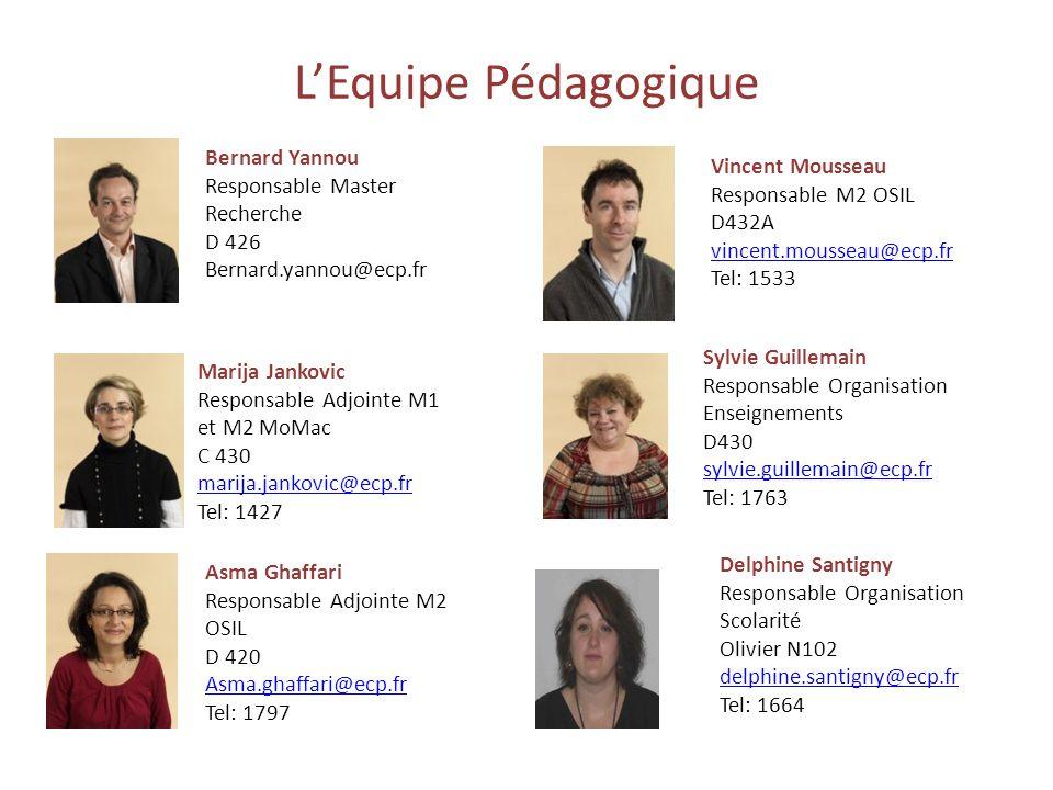 L'Equipe Pédagogique Bernard Yannou Vincent Mousseau