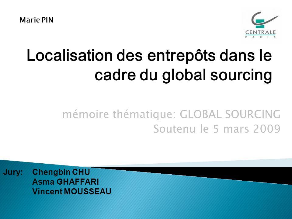 mémoire thématique: GLOBAL SOURCING Soutenu le 5 mars 2009