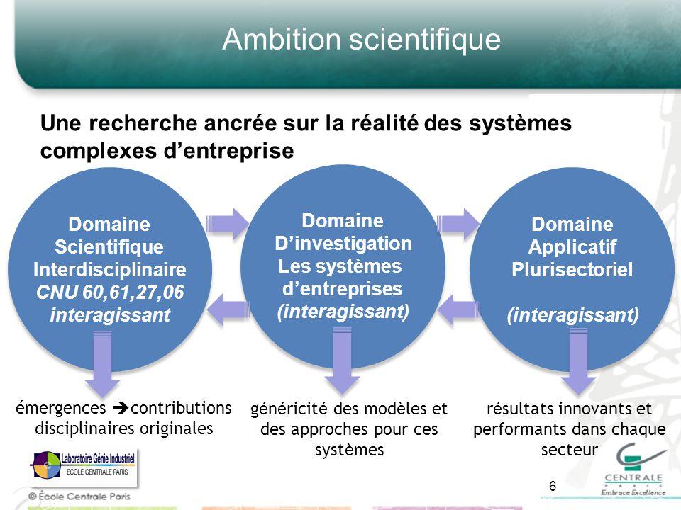Ambition scientifique