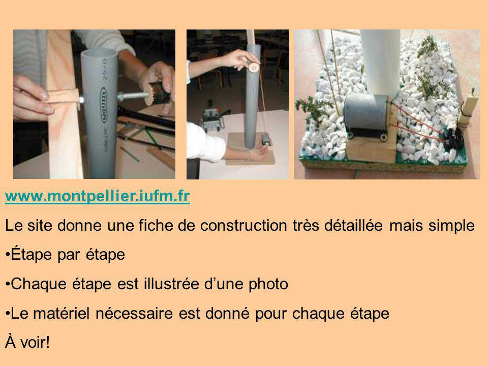 www.montpellier.iufm.fr Le site donne une fiche de construction très détaillée mais simple. Étape par étape.