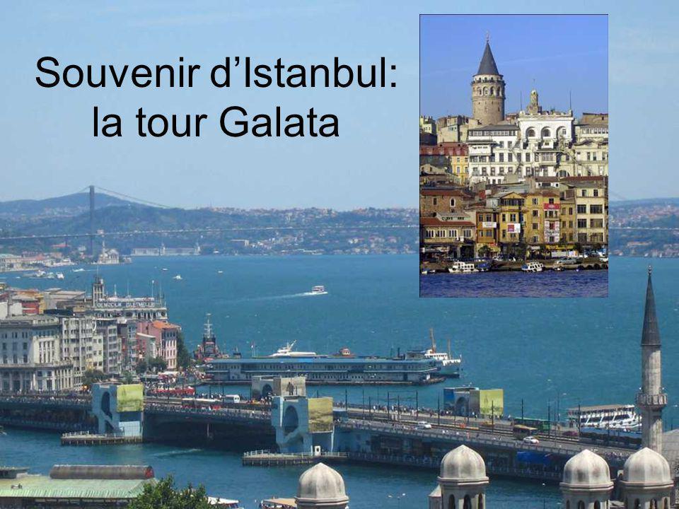 Souvenir d'Istanbul: la tour Galata