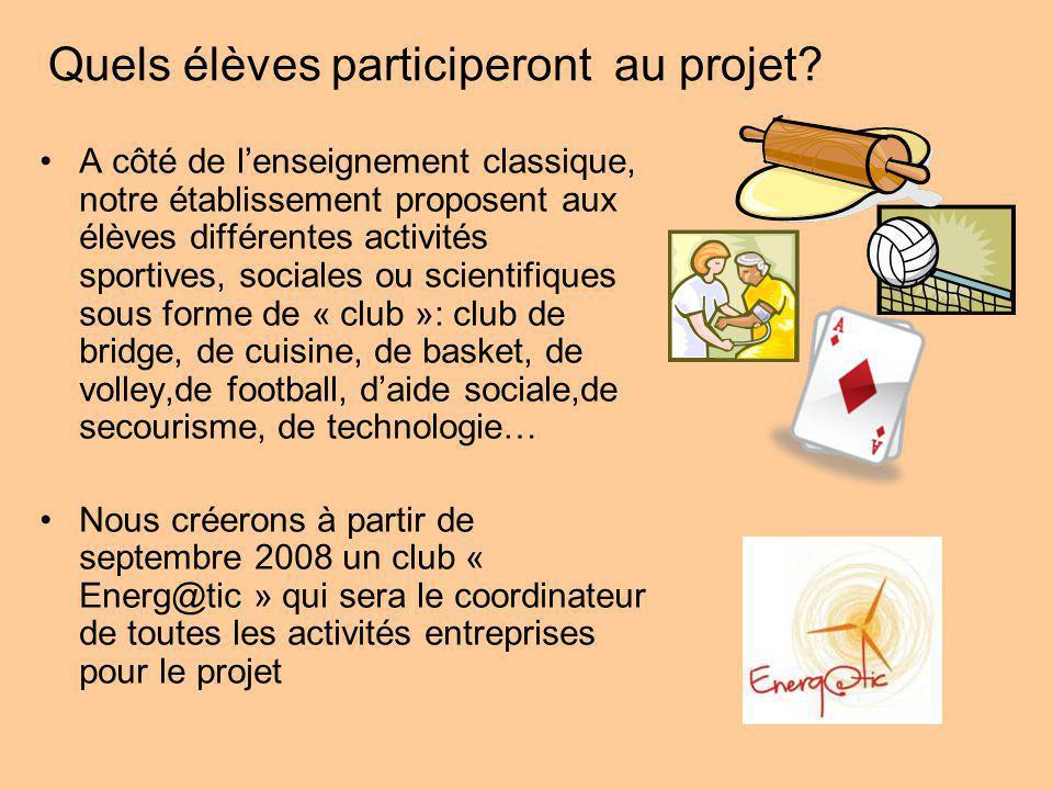 Quels élèves participeront au projet