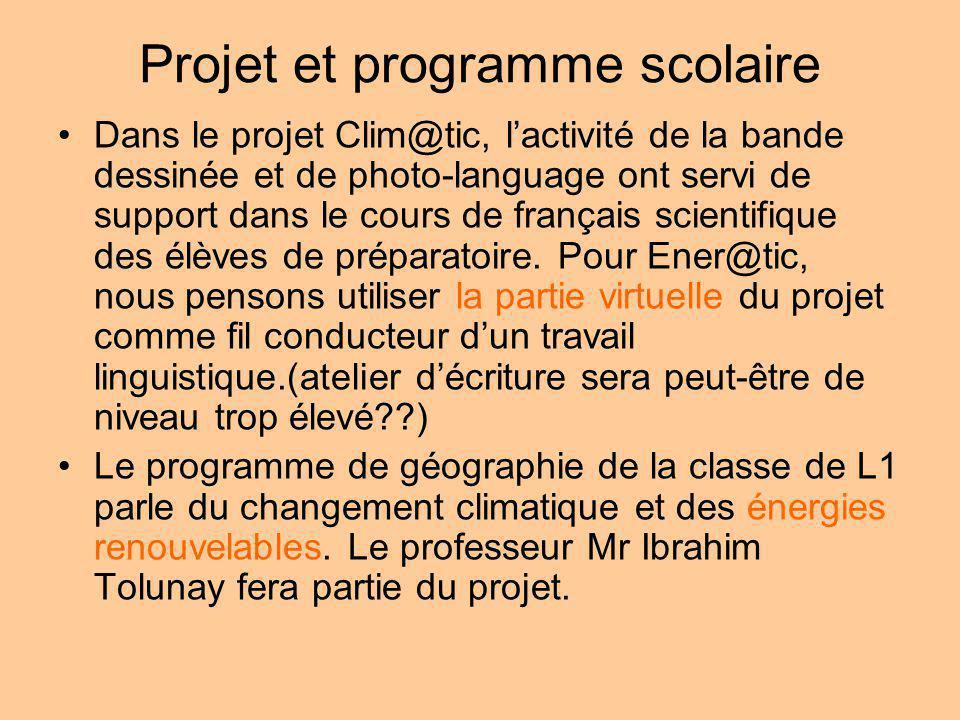 Projet et programme scolaire