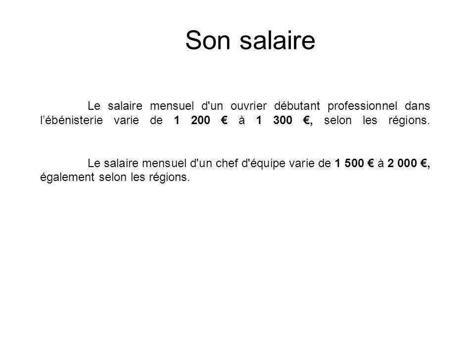 Son salaire