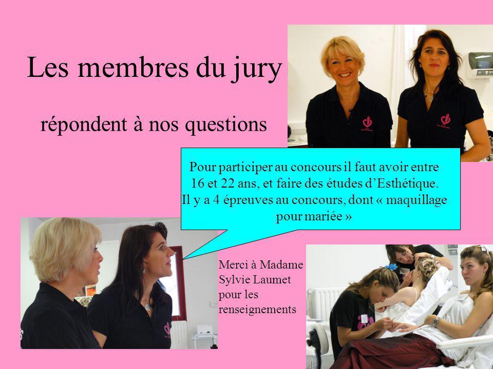 Les membres du jury répondent à nos questions