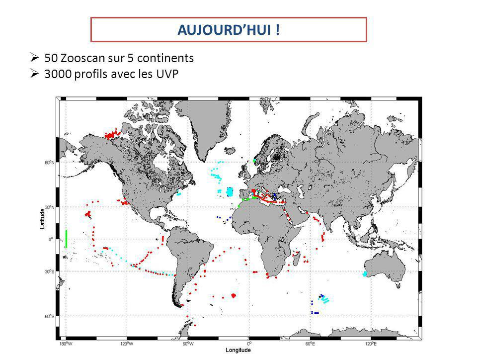 AUJOURD'HUI ! 50 Zooscan sur 5 continents 3000 profils avec les UVP