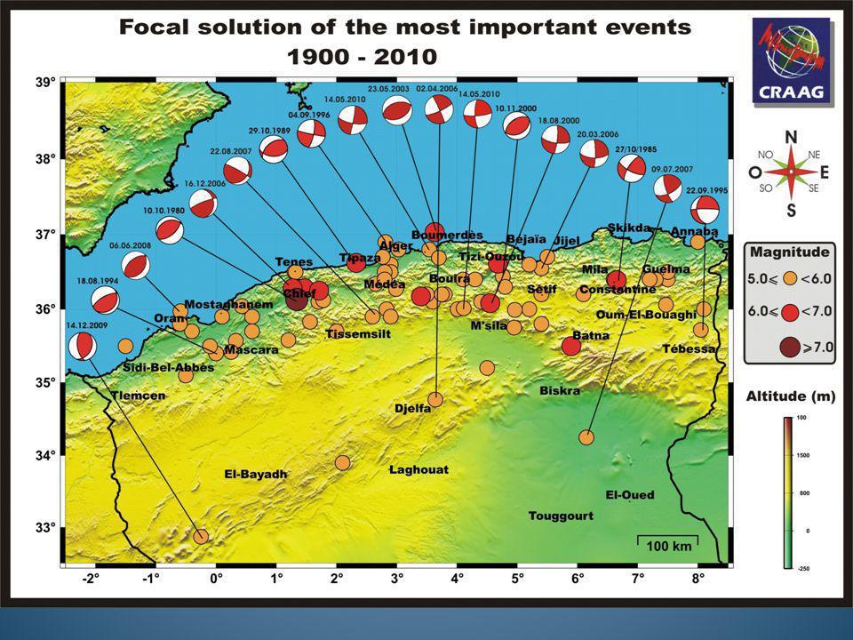Principaux séismes (1365-2006)