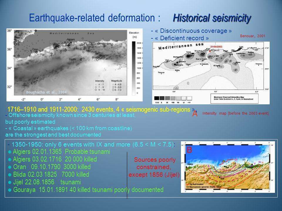 Historical seismicity