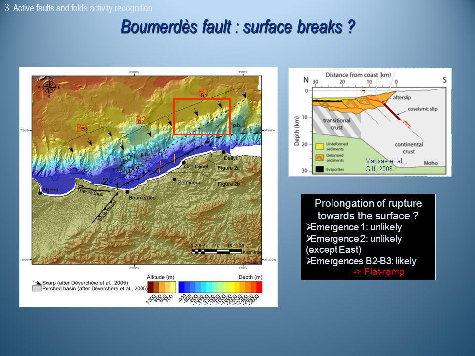 Boumerdès fault : surface breaks