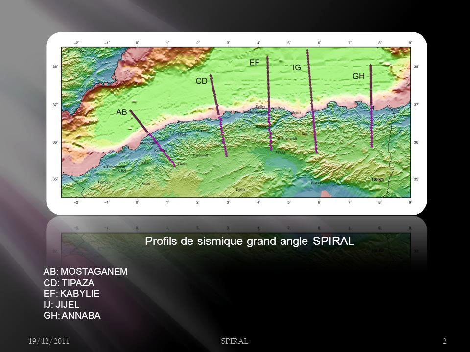 Profils de sismique grand-angle SPIRAL