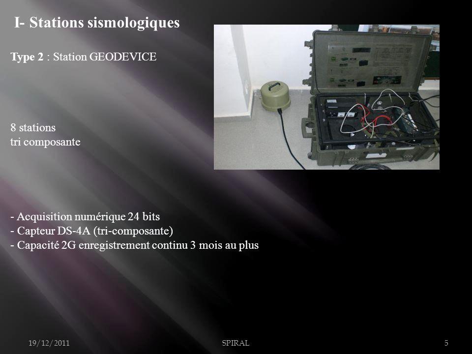 I- Stations sismologiques
