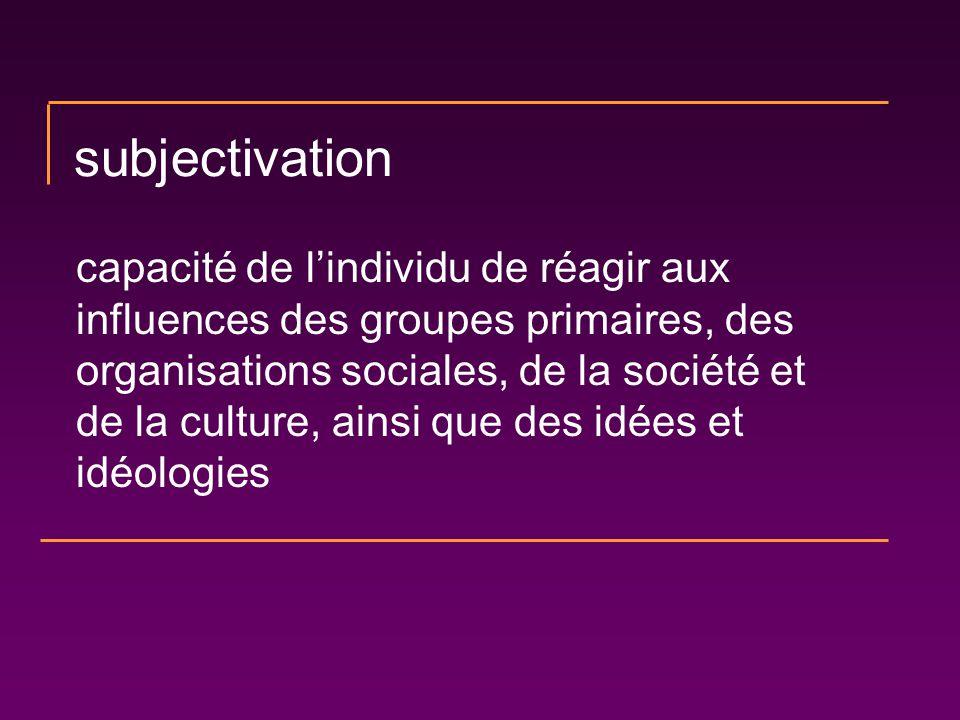 subjectivation