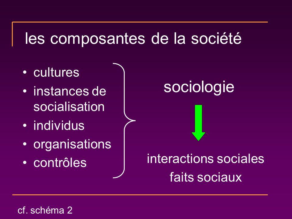 les composantes de la société