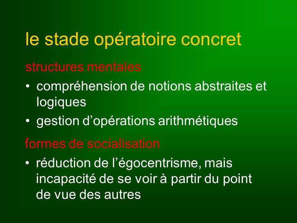 le stade opératoire concret