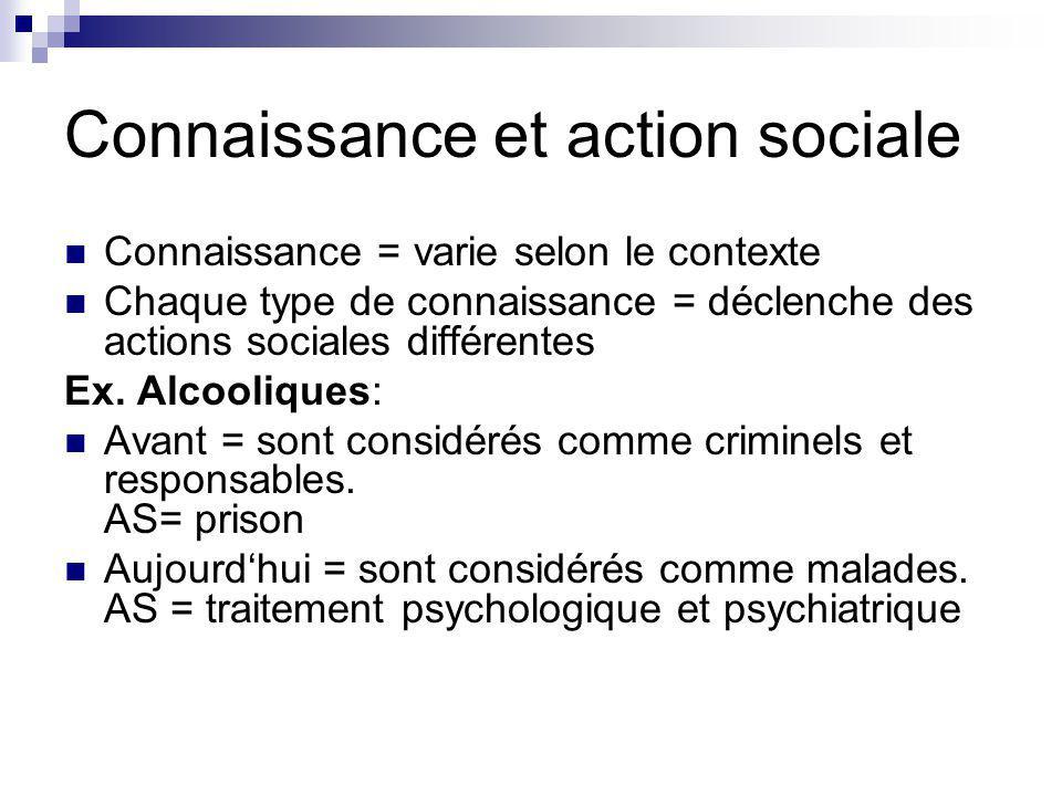 Connaissance et action sociale
