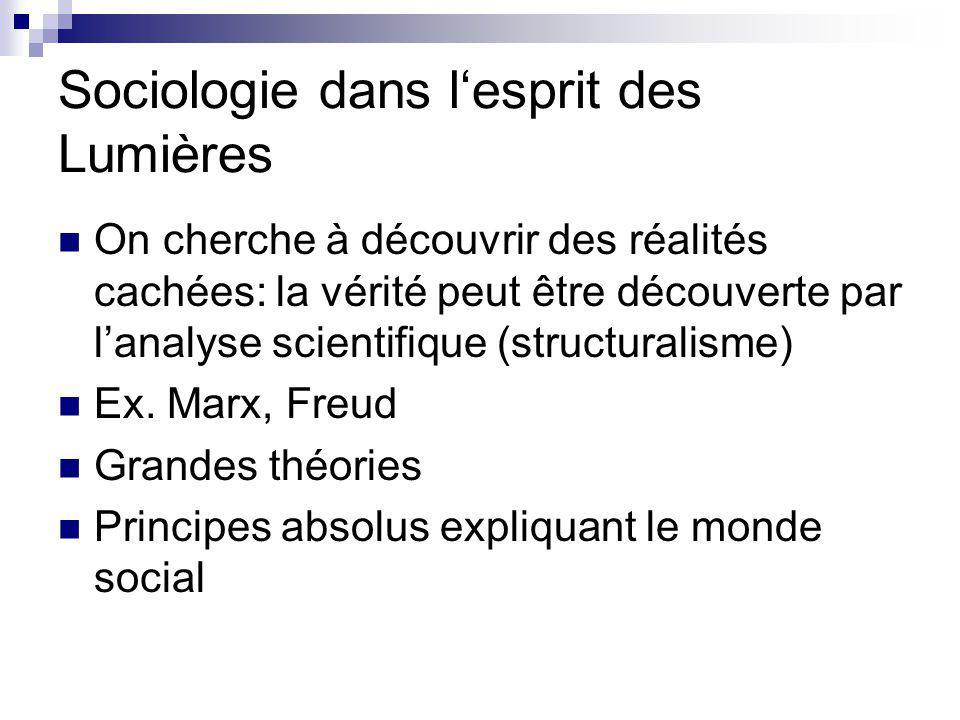 Sociologie dans l'esprit des Lumières