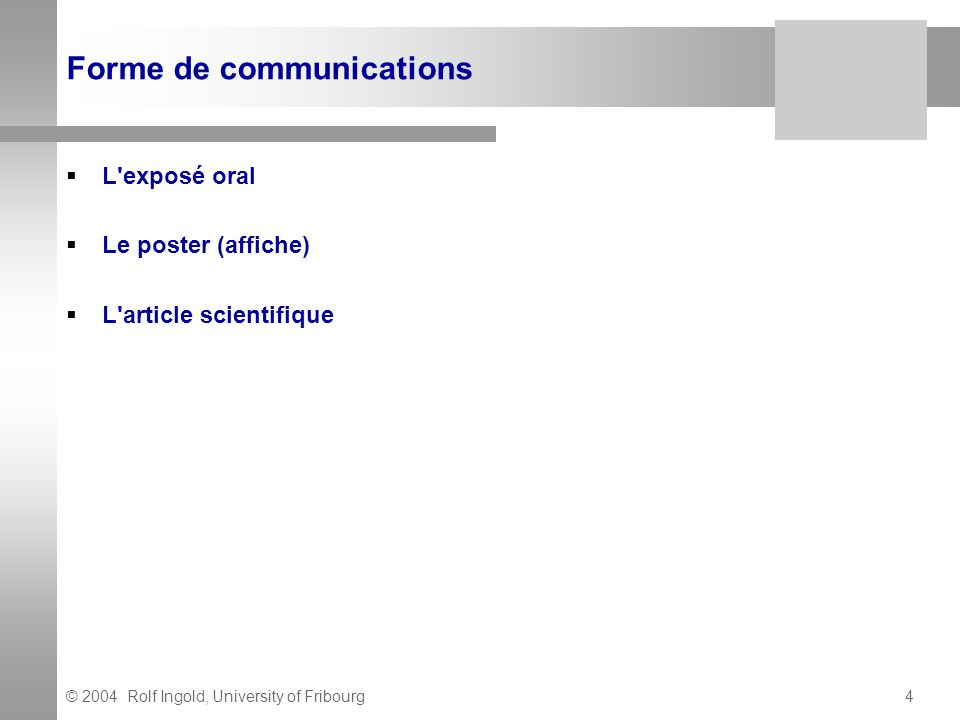 Forme de communications