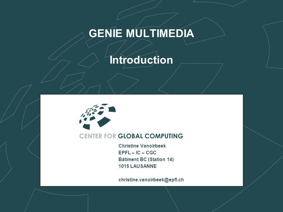 GENIE MULTIMEDIA Introduction