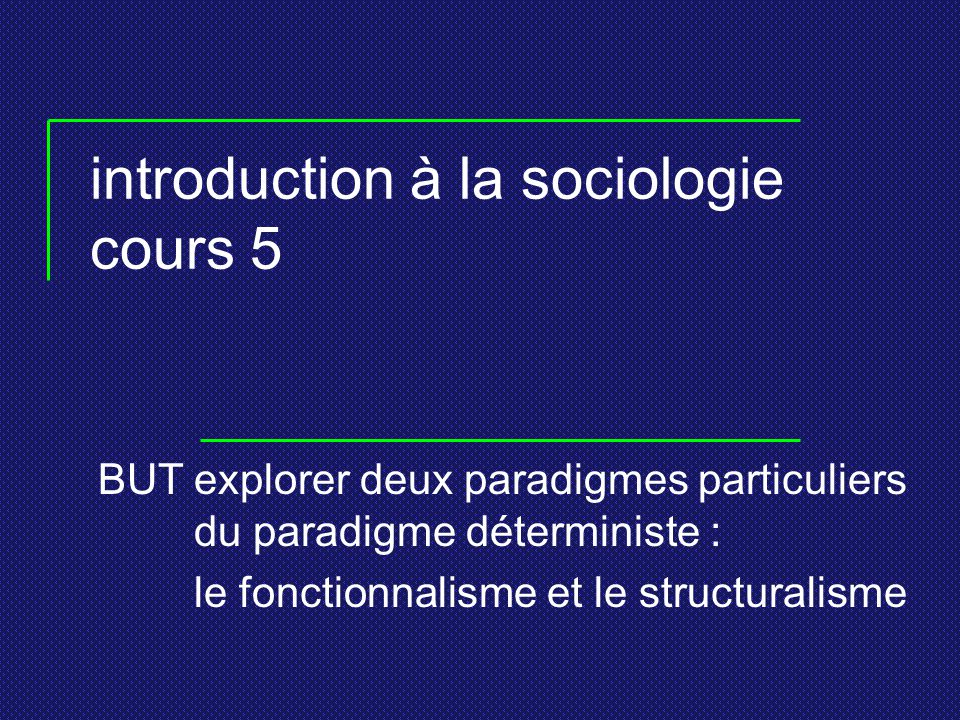introduction à la sociologie cours 5