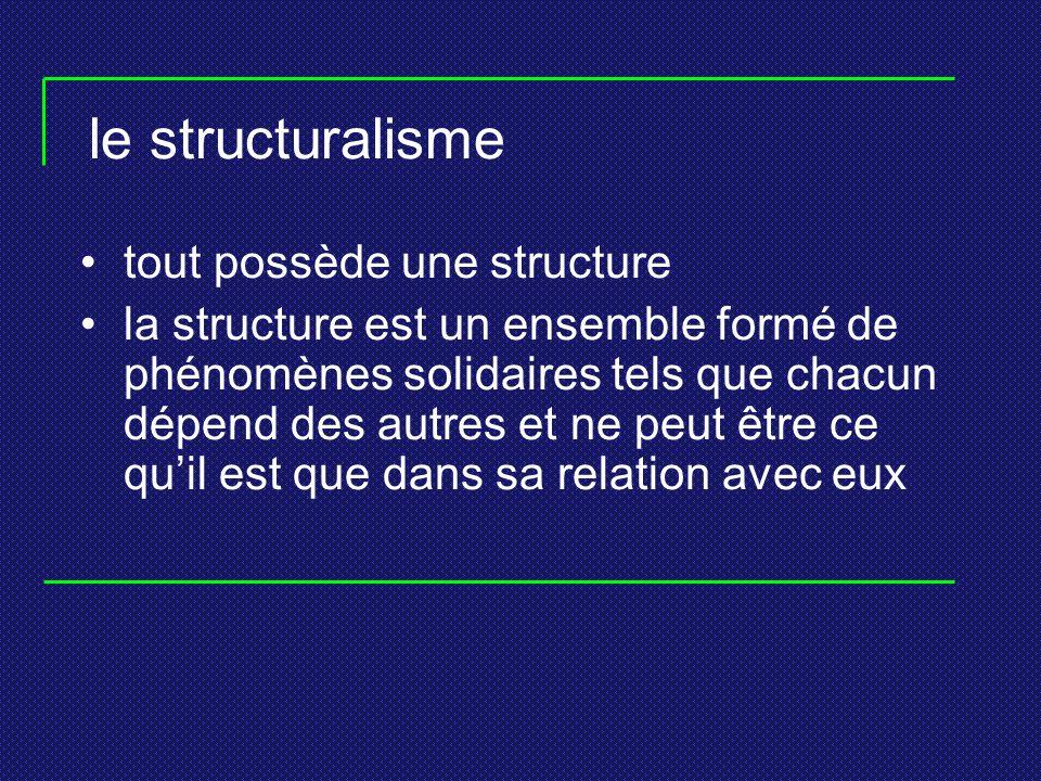 le structuralisme tout possède une structure
