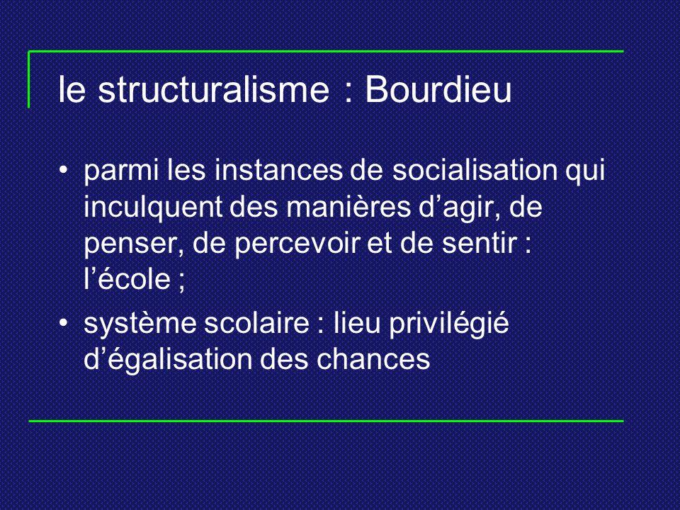 le structuralisme : Bourdieu