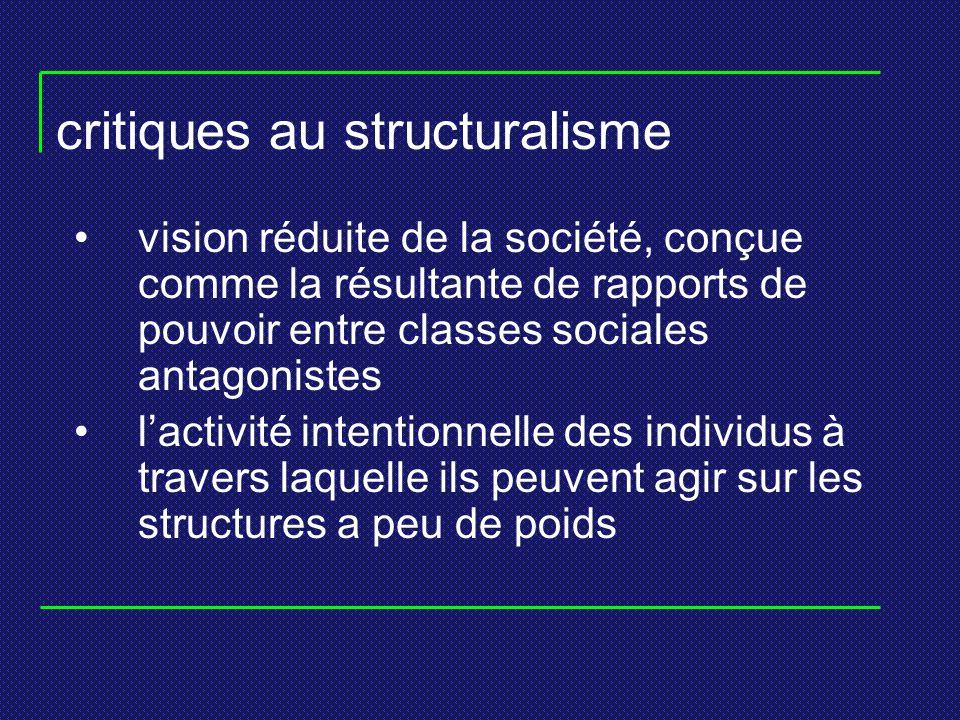 critiques au structuralisme