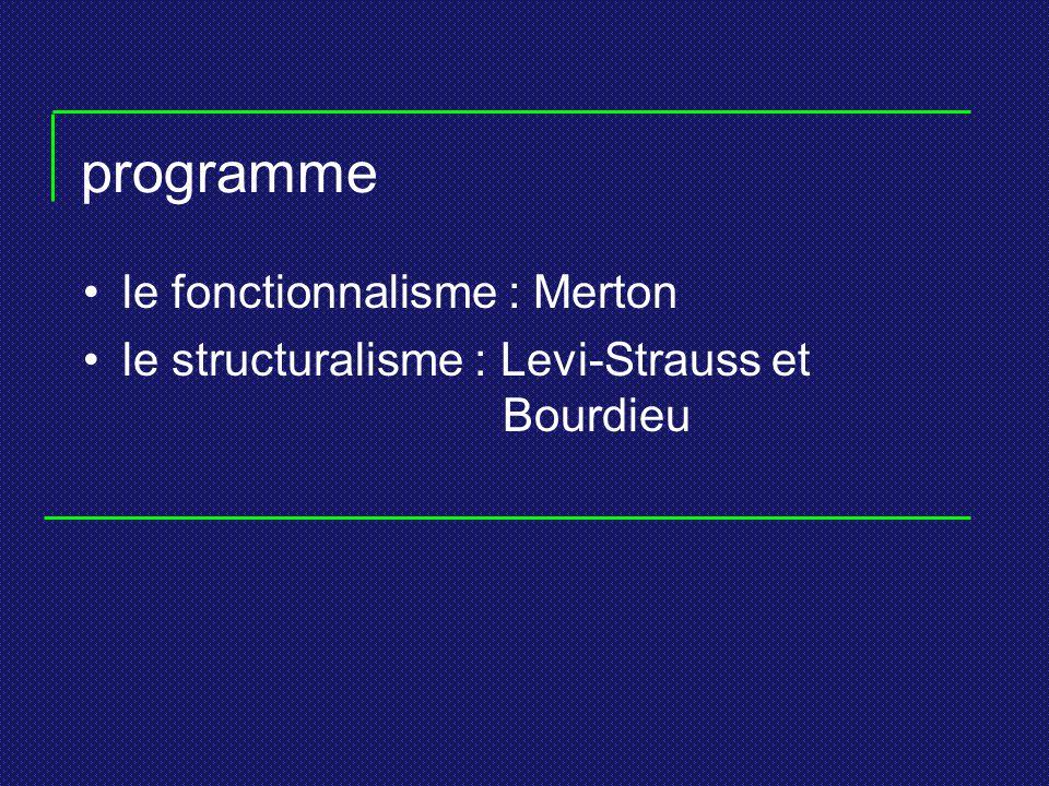 programme le fonctionnalisme : Merton