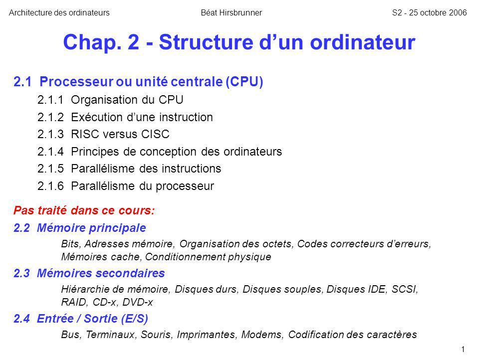 Chap. 2 - Structure d'un ordinateur