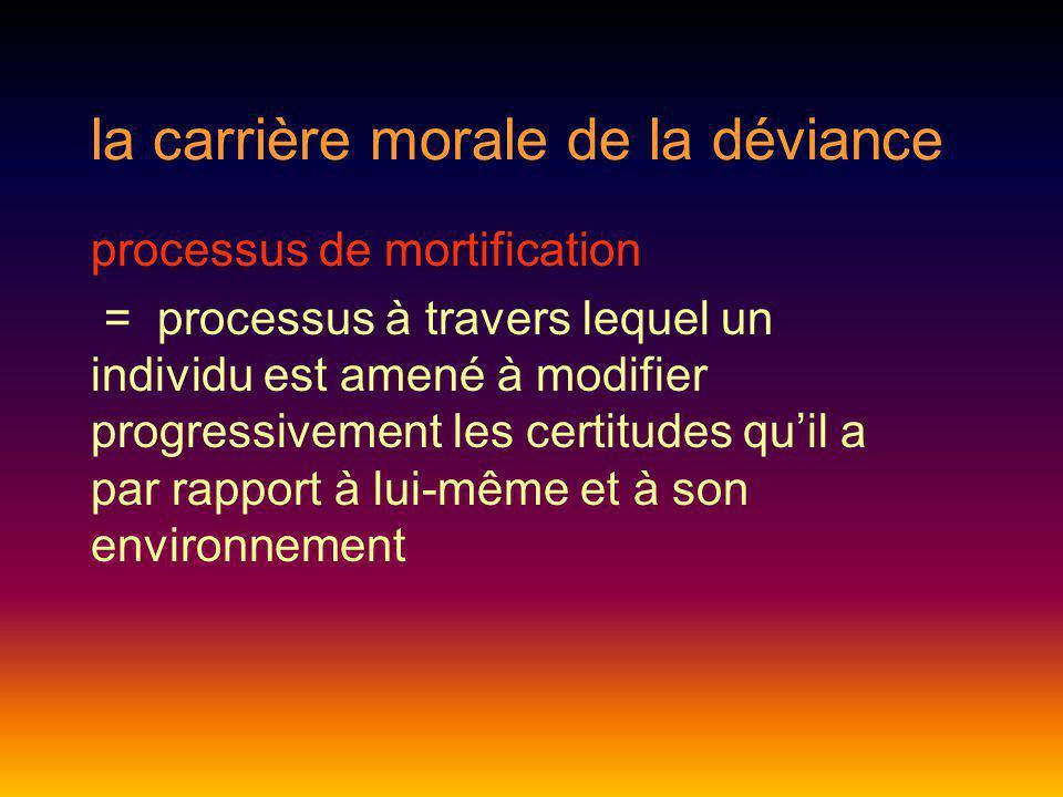 la carrière morale de la déviance