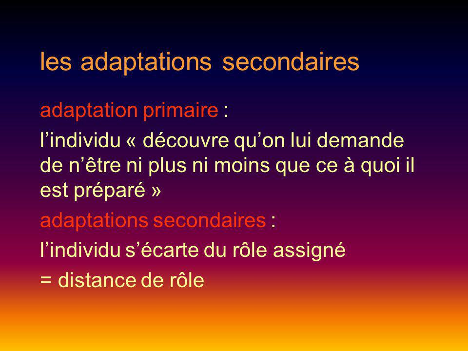les adaptations secondaires