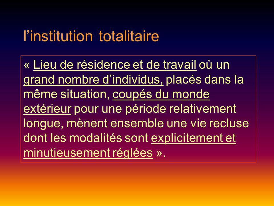 l'institution totalitaire