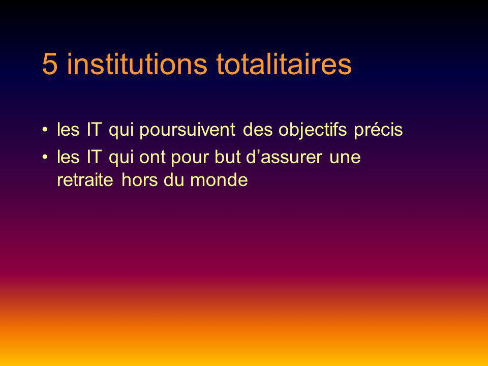 5 institutions totalitaires