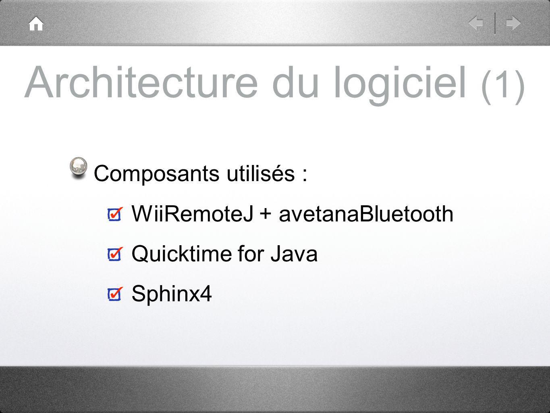 Architecture du logiciel (1)