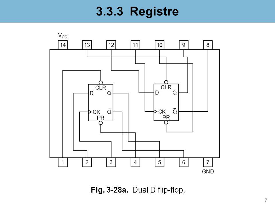 3.3.3 Registre Fig. 3-28a. Dual D flip-flop. nfnfdnfnfn