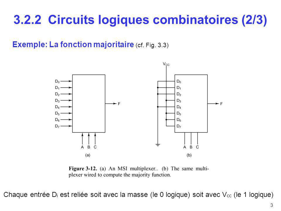 3.2.2 Circuits logiques combinatoires (2/3)