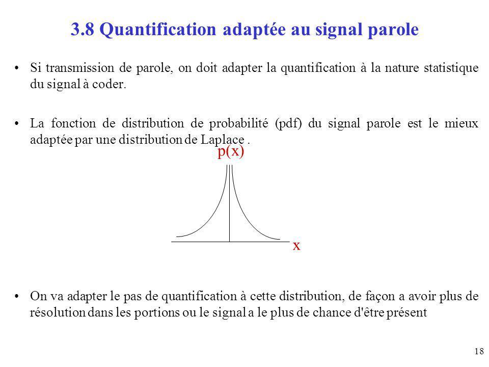 3.8 Quantification adaptée au signal parole