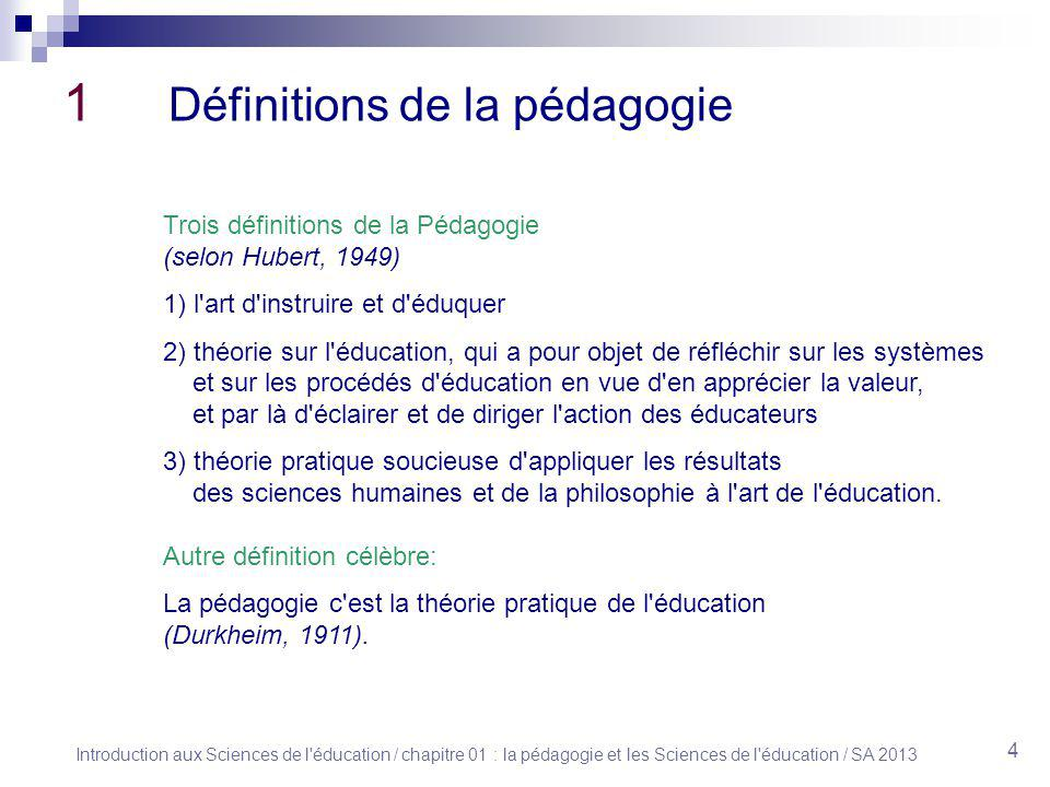 1 la p dagogie et les sciences de l ducation ppt for Definition de l