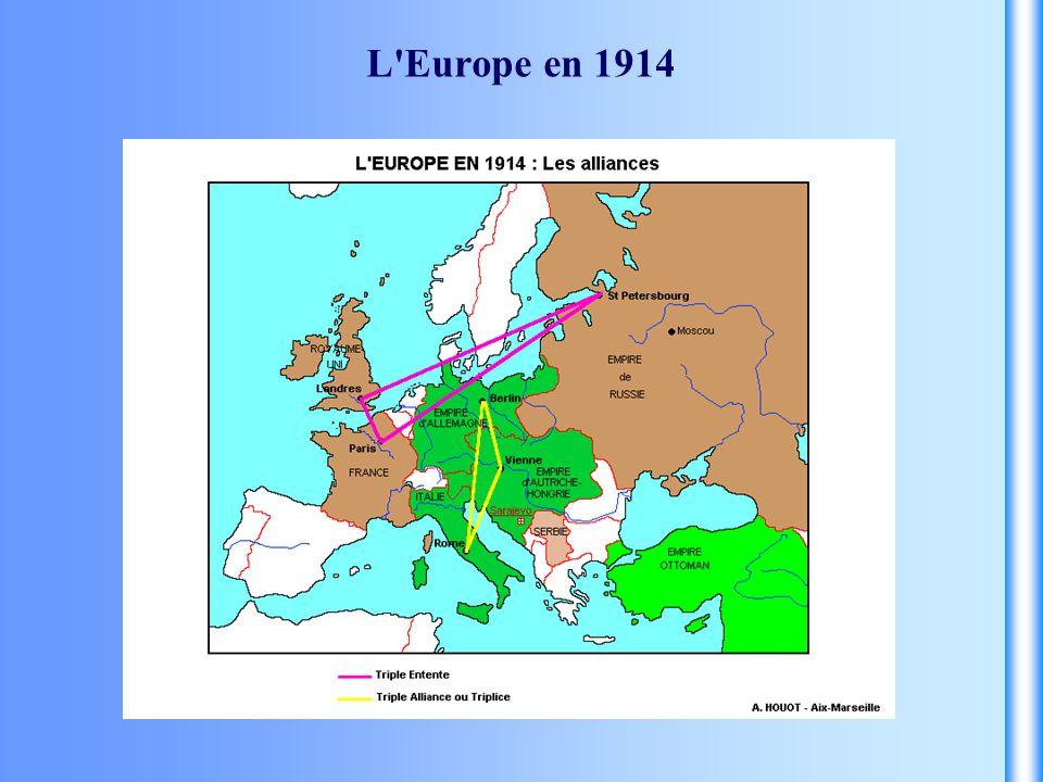 L Europe en 1914