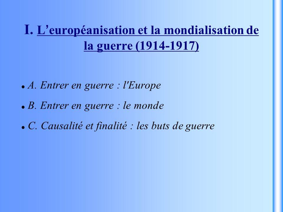 I. L'européanisation et la mondialisation de la guerre (1914-1917)