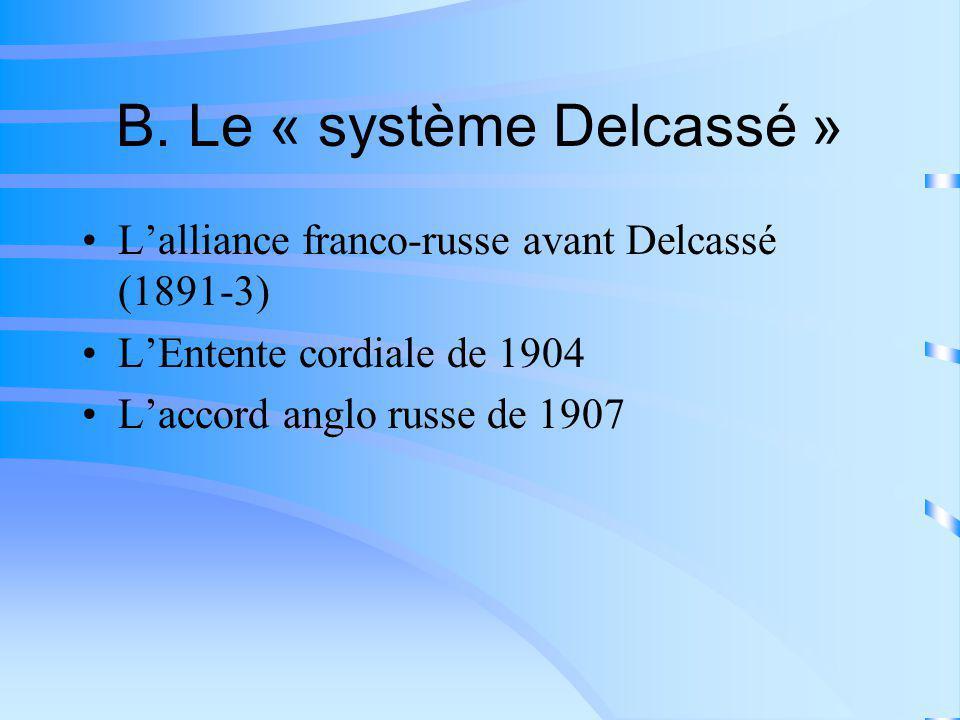B. Le « système Delcassé »