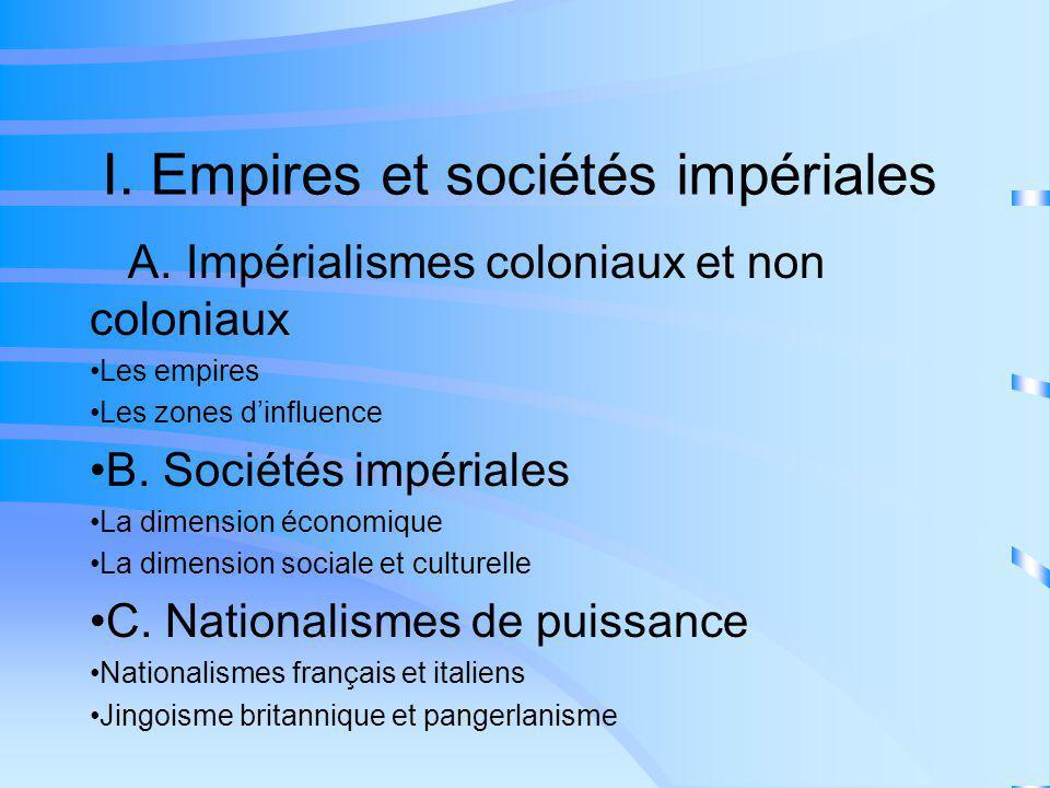 I. Empires et sociétés impériales