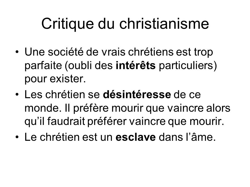 Critique du christianisme