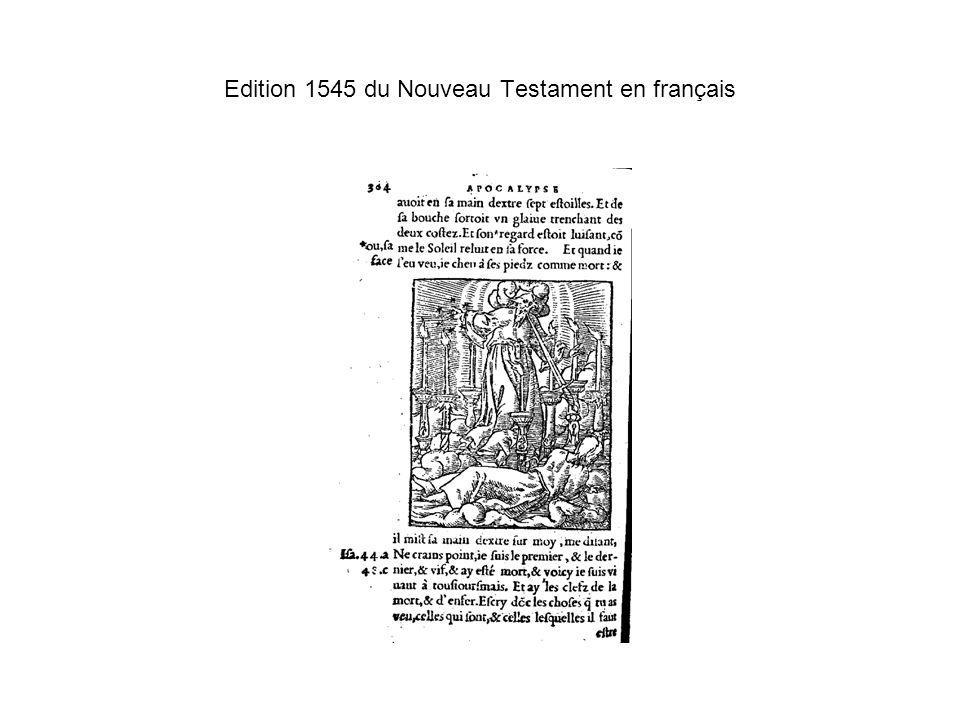 Edition 1545 du Nouveau Testament en français