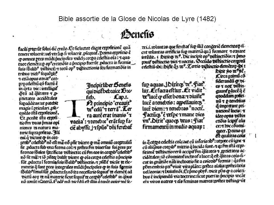 Bible assortie de la Glose de Nicolas de Lyre (1482)
