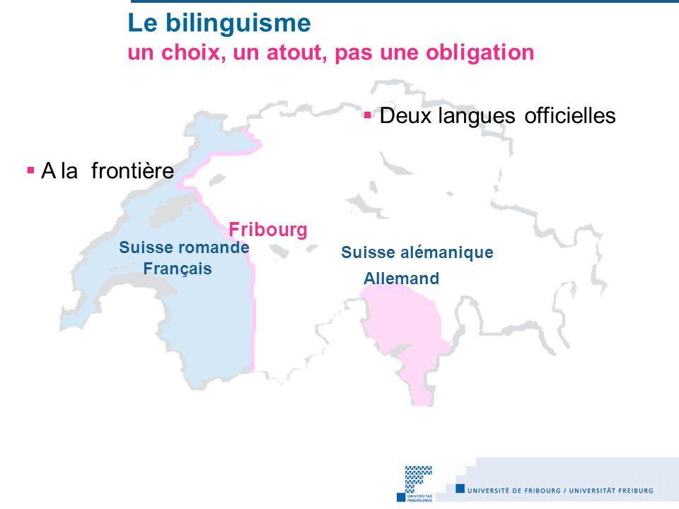 Le bilinguisme un choix, un atout, pas une obligation