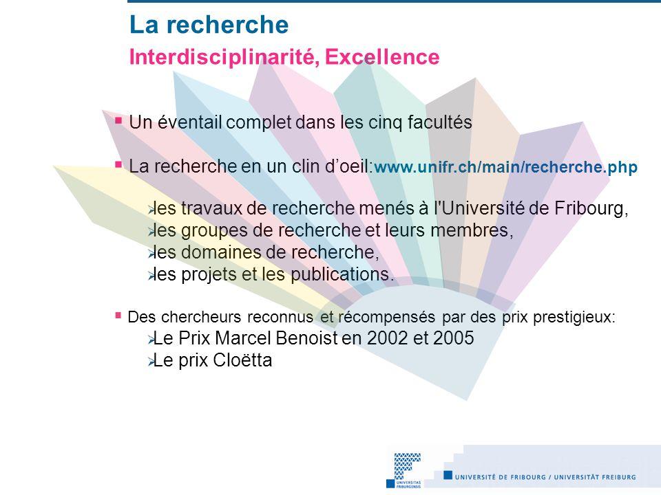 La recherche Interdisciplinarité, Excellence