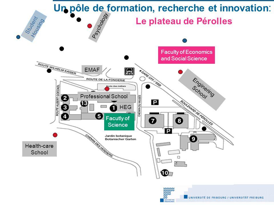 Un pôle de formation, recherche et innovation: Le plateau de Pérolles