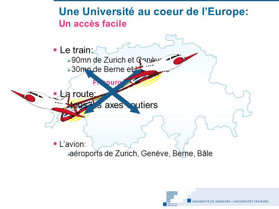 Une Université au coeur de l'Europe: Un accès facile